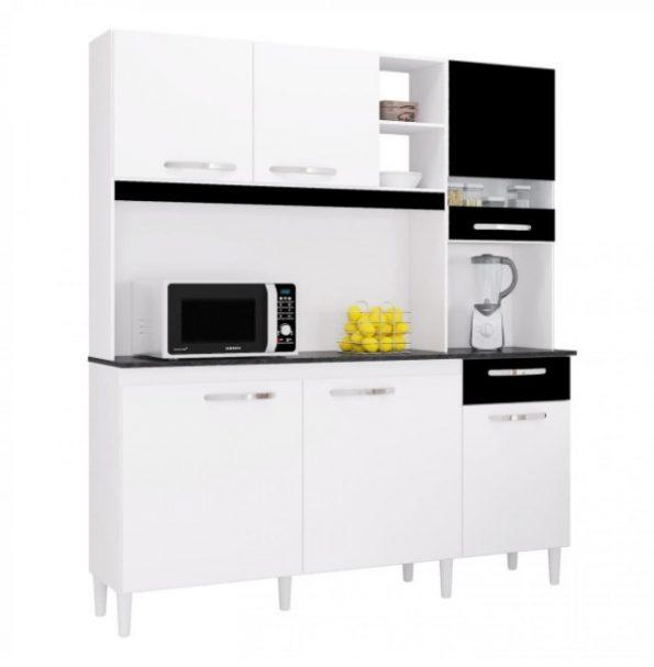 mueble cocina blanco negro